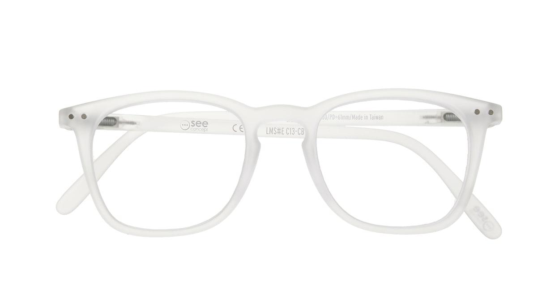 イジピジ リーディンググラス +1.5 #E-WHITE [老眼鏡/ウェリントン/白]  3