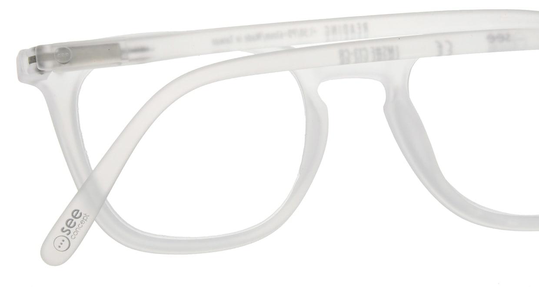 イジピジ リーディンググラス +1.5 #E-WHITE [老眼鏡/ウェリントン/白]  4