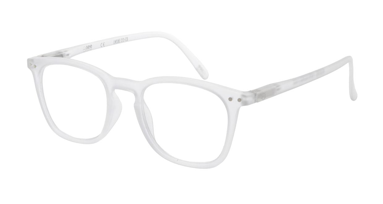 イジピジ リーディンググラス +2.5 #E-WHITE [老眼鏡/ウェリントン/白]