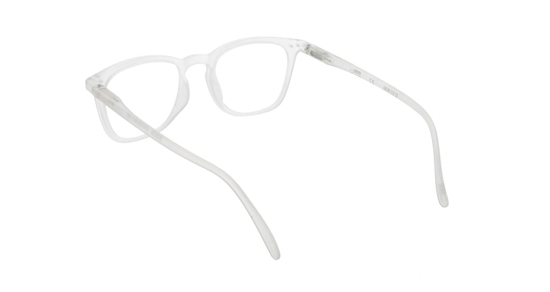 イジピジ リーディンググラス +2.5 #E-WHITE [老眼鏡/ウェリントン/白]  2