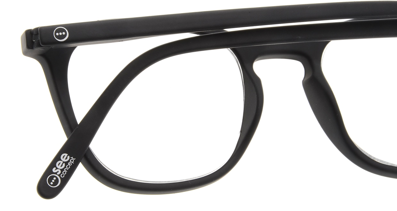 イジピジ リーディンググラス +1.5 #E-BLACK [老眼鏡/黒縁/ウェリントン]  4