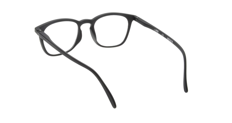 イジピジ リーディンググラス +2.0 #E-BLACK [老眼鏡/黒縁/ウェリントン]  2
