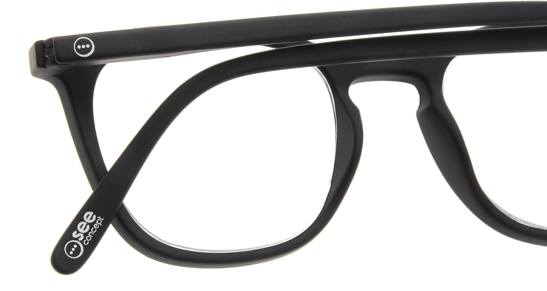 イジピジ リーディンググラス +2.5 #E-BLACK [老眼鏡/黒縁/ウェリントン]  4