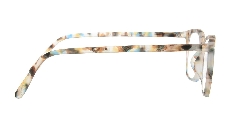イジピジ リーディンググラス +2.5 #E-BLUE TORTOISE [老眼鏡/ウェリントン/派手]  1