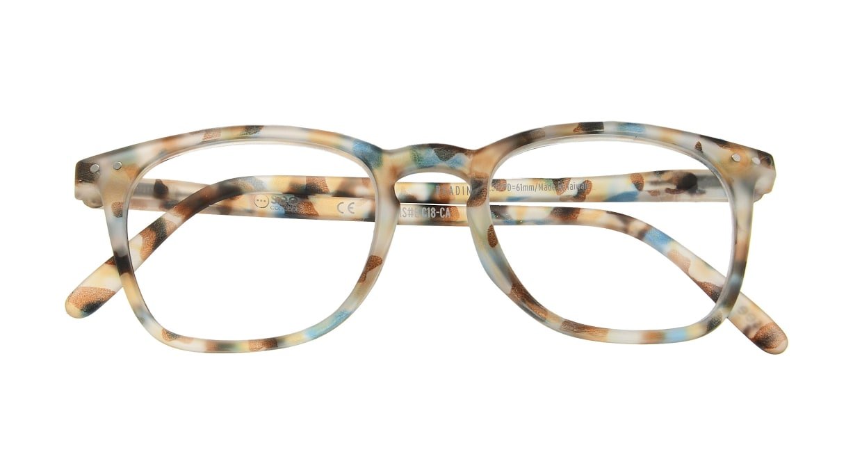 イジピジ リーディンググラス +2.5 #E-BLUE TORTOISE [老眼鏡/ウェリントン/派手]  3
