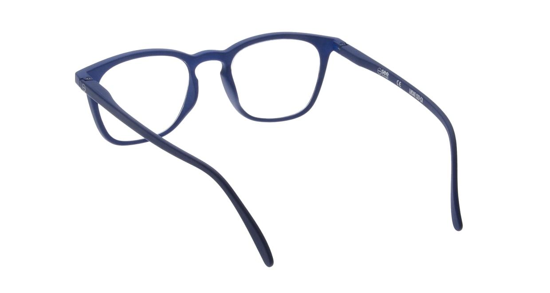 イジピジ リーディンググラス +2.5 #E-NAVY [老眼鏡/ウェリントン/青]  2