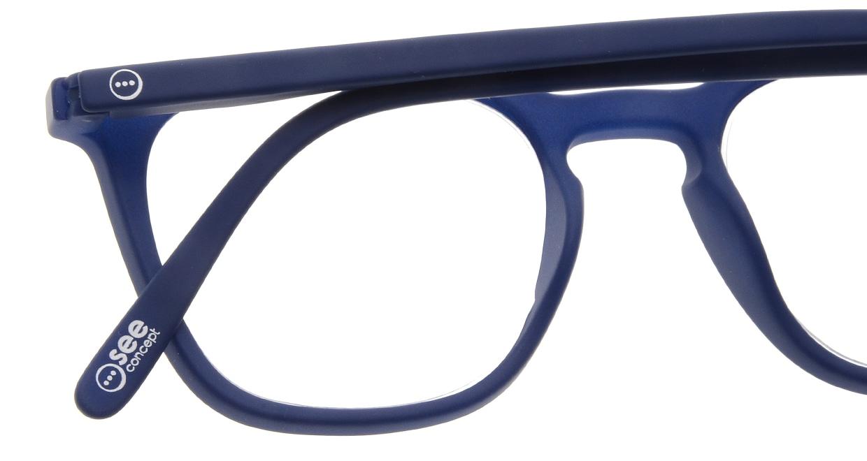 イジピジ リーディンググラス +2.5 #E-NAVY [老眼鏡/ウェリントン/青]  4