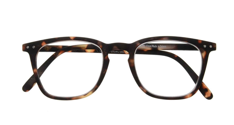イジピジ リーディンググラス +1.5 #E-TORTOISE [老眼鏡/ウェリントン/べっ甲柄]  3
