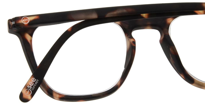 イジピジ リーディンググラス +1.5 #E-TORTOISE [老眼鏡/ウェリントン/べっ甲柄]  4
