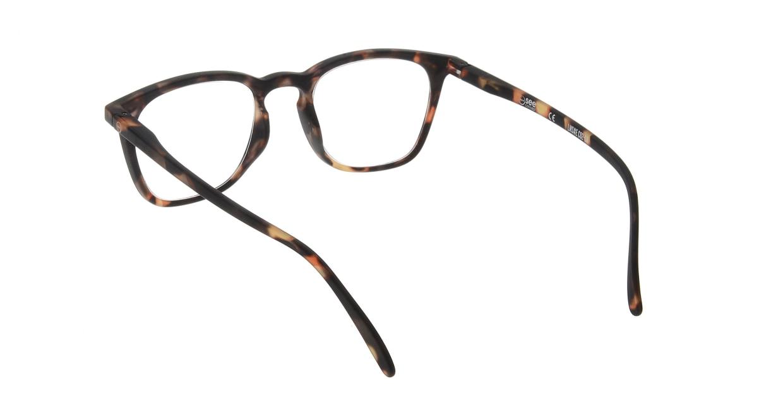 イジピジ リーディンググラス +2.5 #E-TORTOISE [老眼鏡/ウェリントン/べっ甲柄]  2