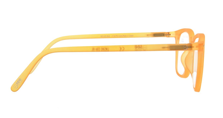 イジピジ リーディンググラス +2.5 #E-YELLOW [老眼鏡/ウェリントン/黄色]  1