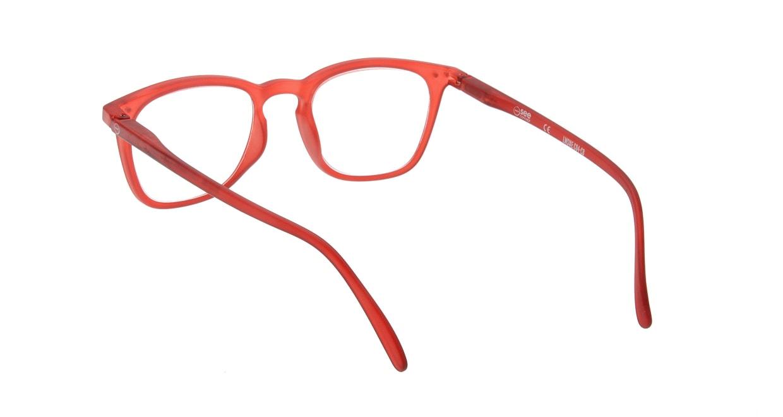 イジピジ リーディンググラス +2.0 #E-RED [老眼鏡/ウェリントン/赤]  2