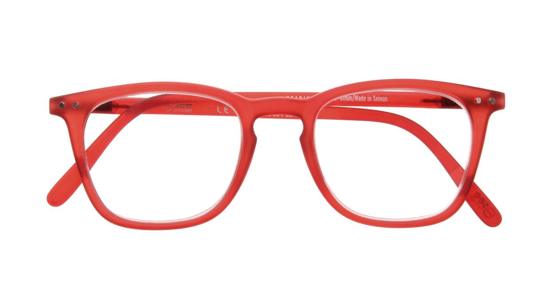 イジピジ リーディンググラス +2.0 #E-RED [老眼鏡/ウェリントン/赤]  3