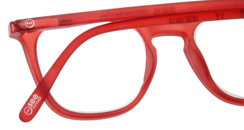 イジピジ リーディンググラス +2.0 #E-RED [老眼鏡/ウェリントン/赤]  4