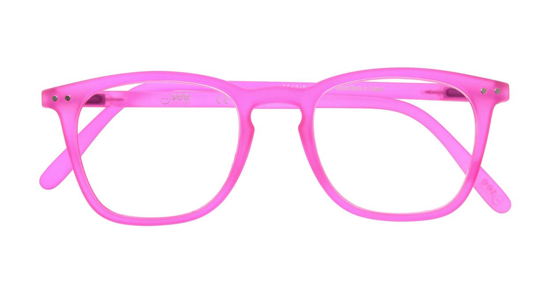 イジピジ リーディンググラス +2.0 #E-PINK [老眼鏡/ウェリントン/ピンク]  3