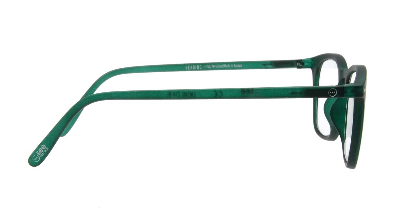 イジピジ リーディンググラス +1.5 #E-GREEN [老眼鏡/ウェリントン/緑]  1