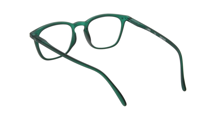 イジピジ リーディンググラス +2.0 #E-GREEN [老眼鏡/ウェリントン/緑]  2