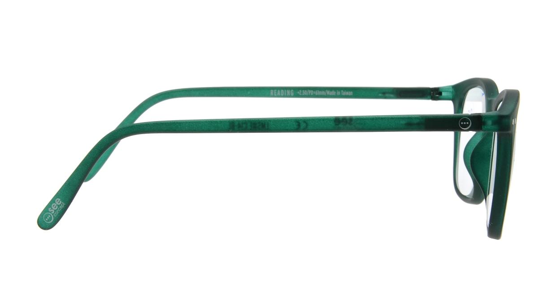イジピジ リーディンググラス +2.5 #E-GREEN [老眼鏡/ウェリントン/緑]  1