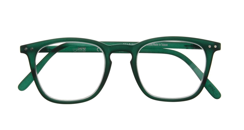 イジピジ リーディンググラス +2.5 #E-GREEN [老眼鏡/ウェリントン/緑]  3