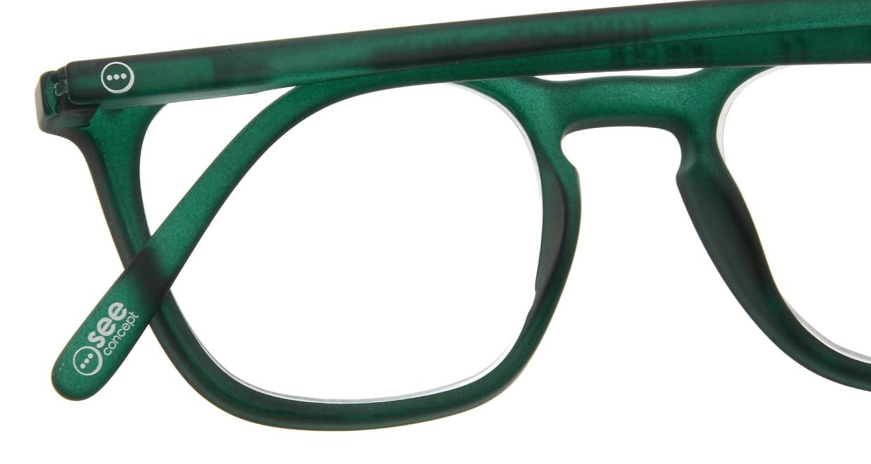 イジピジ リーディンググラス +2.5 #E-GREEN [老眼鏡/ウェリントン/緑]  4