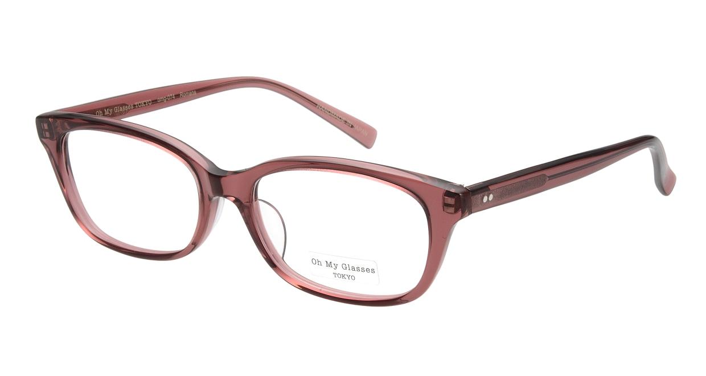 Oh My Glasses TOKYO Romans omg-074-040-53 [鯖江産/ウェリントン/ピンク]