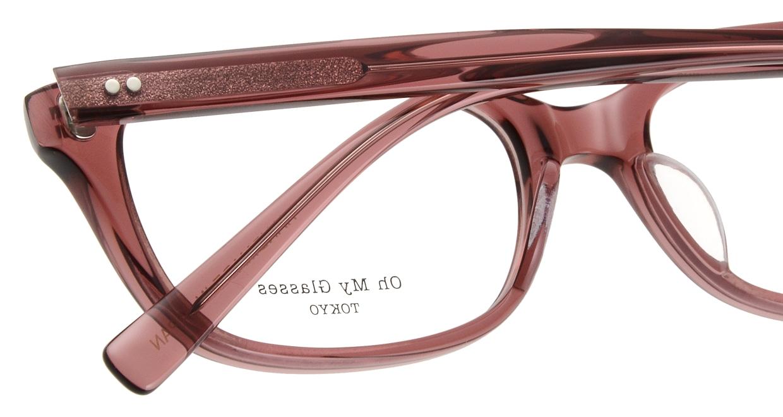 Oh My Glasses TOKYO Romans omg-074-040-53 [鯖江産/ウェリントン/ピンク]  4