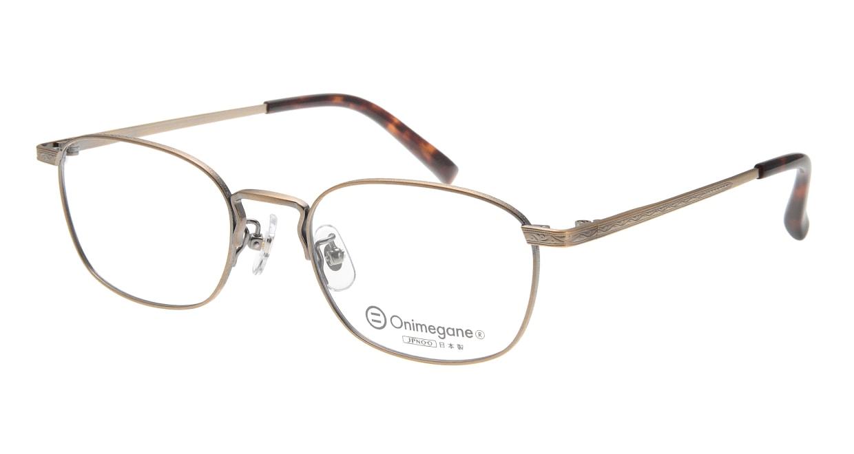 オニメガネ OG7015-AG [メタル/鯖江産/ウェリントン/茶色]  1