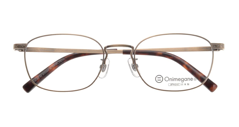 オニメガネ OG7015-AG [メタル/鯖江産/ウェリントン/茶色]