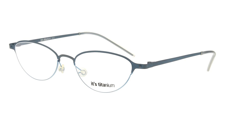 イッツチタニウム 913-v-gg [メタル/丸メガネ/青]
