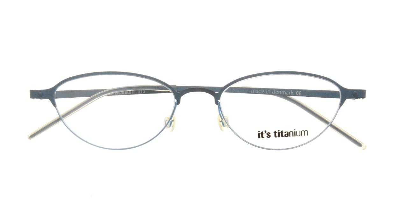 イッツチタニウム 913-v-gg [メタル/丸メガネ/青]  3