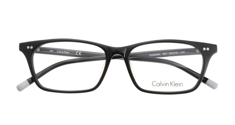 カルバンクライン CK5948A-001 BLACK [黒縁/ウェリントン]  3