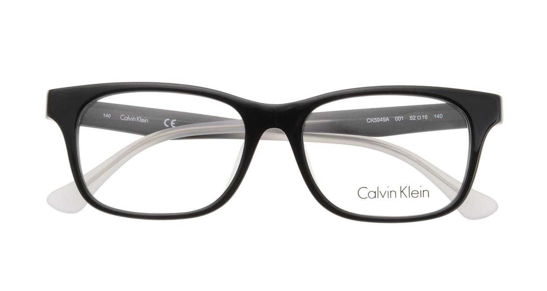 カルバンクライン CK5949A-001 BLACK [黒縁/ウェリントン]  3
