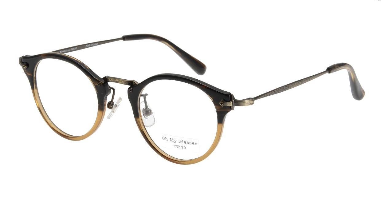 Oh My Glasses TOKYO Luke omg-025-21-13 [鯖江産/丸メガネ/茶色]