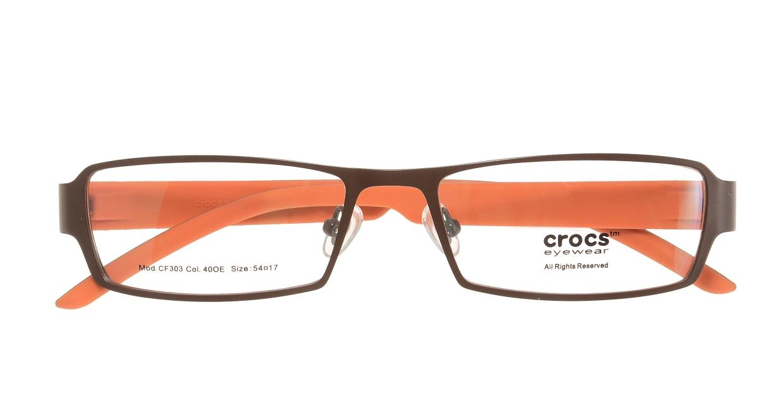 クロックスアイウェア CF303-40OE [メタル/スクエア/茶色]  3