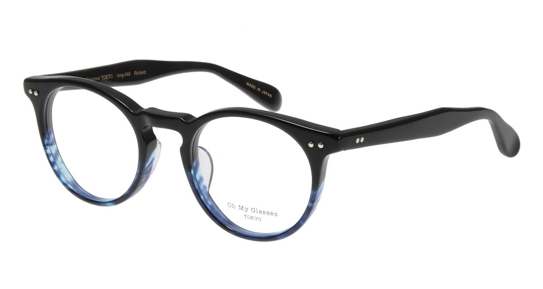 Oh My Glasses TOKYO Richard omg-049 6-48 [黒縁/鯖江産/丸メガネ]