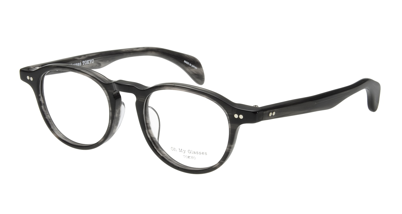 Oh My Glasses TOKYO Oliver omg-006 6-47 [黒縁/鯖江産/丸メガネ]