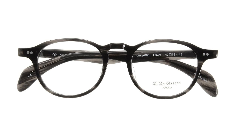 Oh My Glasses TOKYO Oliver omg-006 6-47 [黒縁/鯖江産/丸メガネ]  3