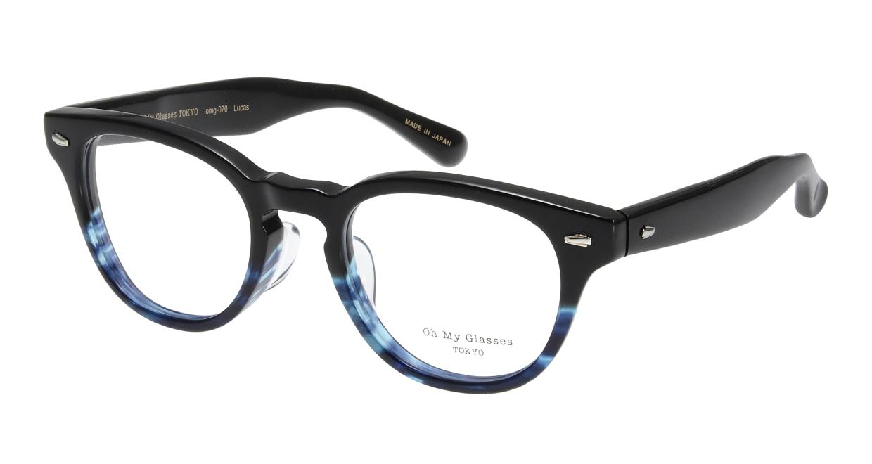 Oh My Glasses TOKYO Lucas omg-070-6-48 [鯖江産/丸メガネ/青]