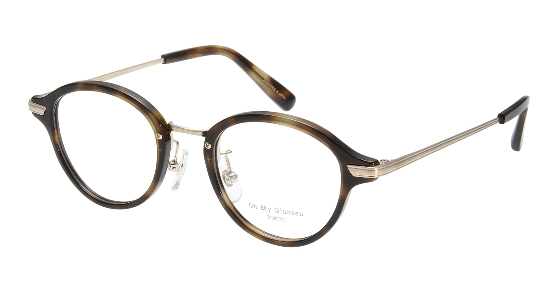 Oh My Glasses TOKYO Mickey omg-073-24-15 [鯖江産/丸メガネ/べっ甲柄]