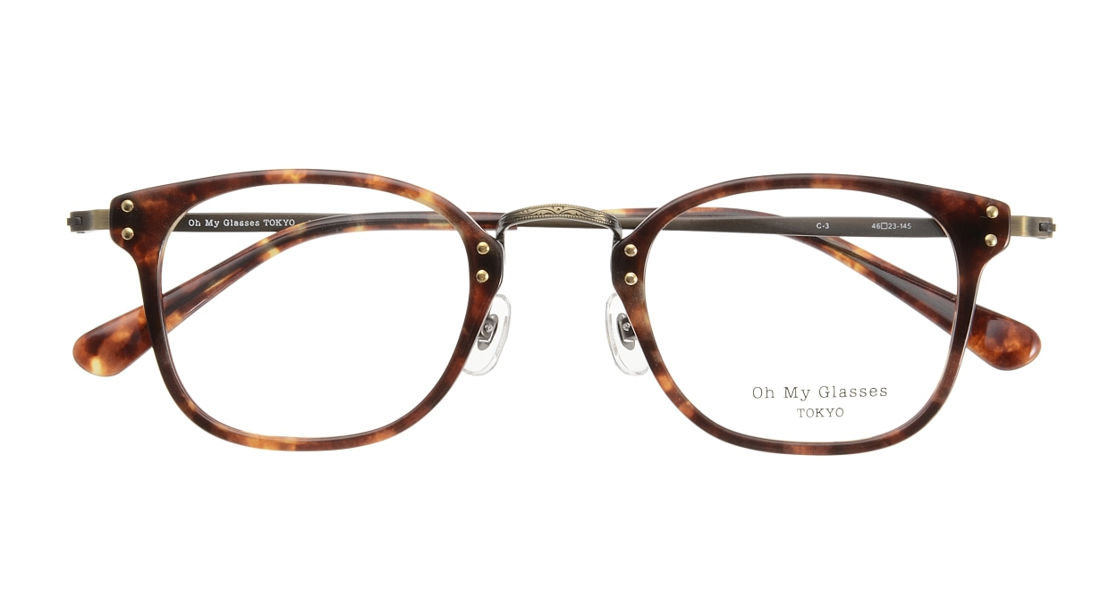 Oh My Glasses TOKYO Ivy omg-080-3 [鯖江産/ウェリントン/べっ甲柄]  3