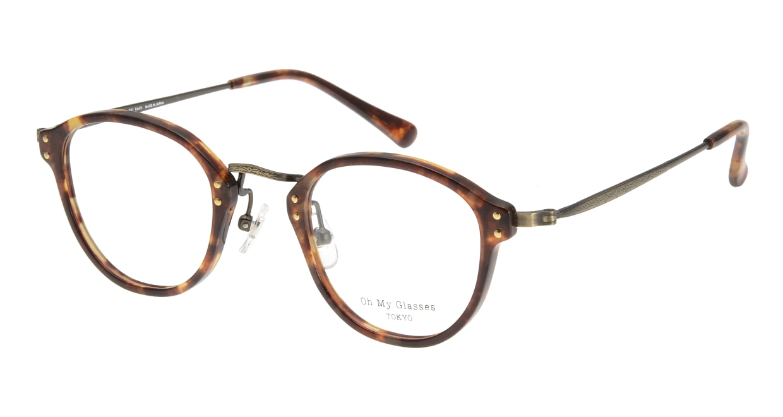 Oh My Glasses TOKYO Keith omg-081-3-46 [鯖江産/丸メガネ/べっ甲柄]