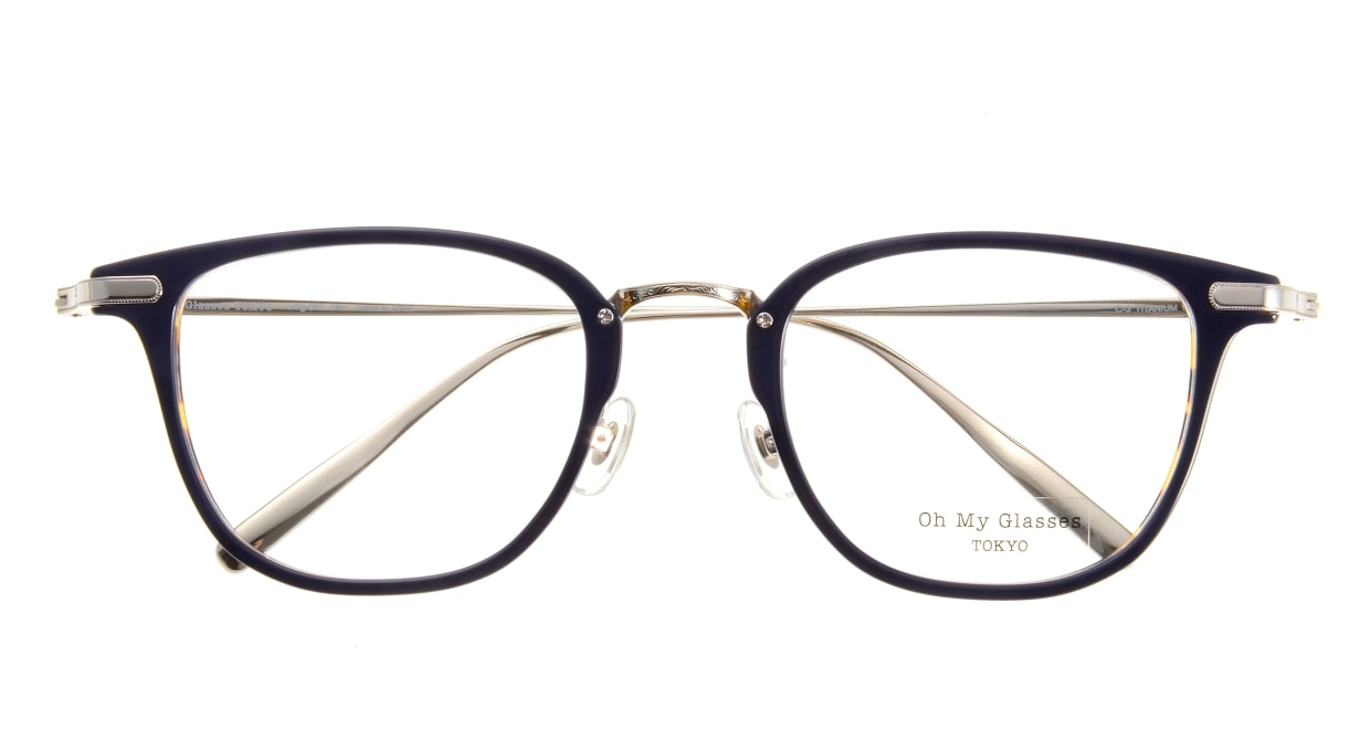 Oh My Glasses TOKYO Otto omg-082-3 [鯖江産/ウェリントン/青]  3