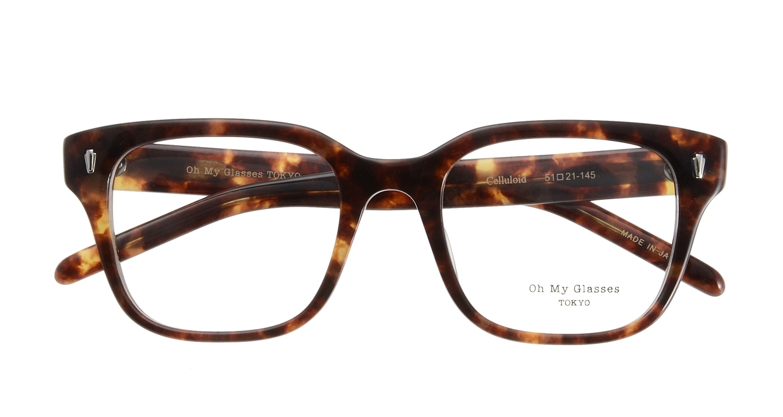 Oh My Glasses TOKYO Micha omg-084-3-51 [鯖江産/ウェリントン/べっ甲柄]  3
