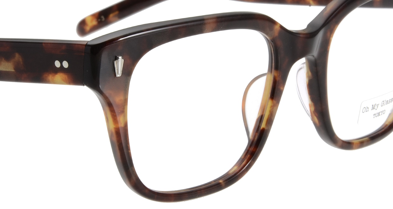 Oh My Glasses TOKYO Micha omg-084-3-51 [鯖江産/ウェリントン/べっ甲柄]  4