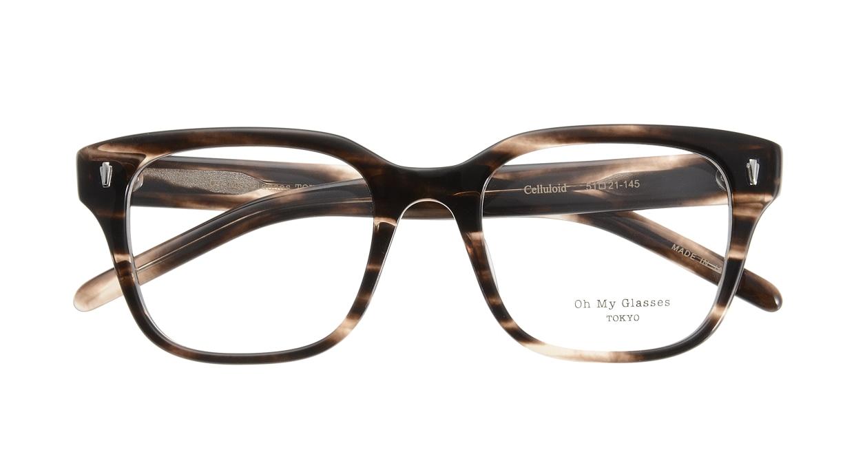 Oh My Glasses TOKYO Micha omg-084-4-51 [鯖江産/ウェリントン/茶色]  3
