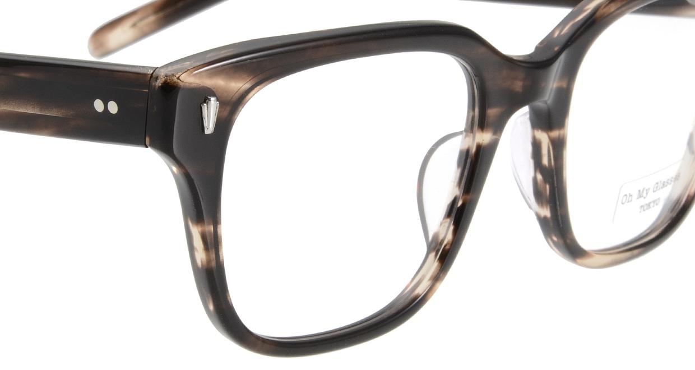 Oh My Glasses TOKYO Micha omg-084-4-51 [鯖江産/ウェリントン/茶色]  4