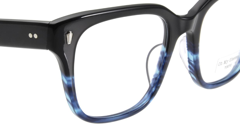Oh My Glasses TOKYO Micha omg-084-6-51 [黒縁/鯖江産/ウェリントン]  4