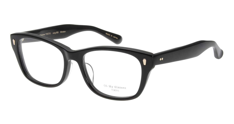 Oh My Glasses TOKYO Winston omg-085-1-52 [黒縁/鯖江産/ウェリントン]
