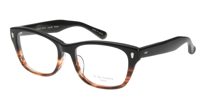 Oh My Glasses TOKYO Winston omg-085-2-52 [黒縁/鯖江産/ウェリントン]
