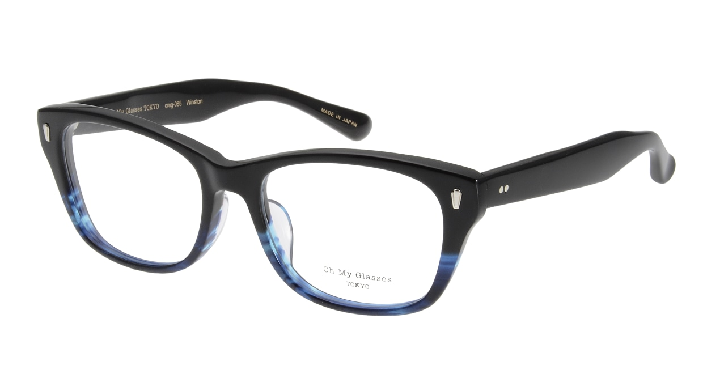 Oh My Glasses TOKYO Winston omg-085-6-52 [黒縁/鯖江産/ウェリントン]